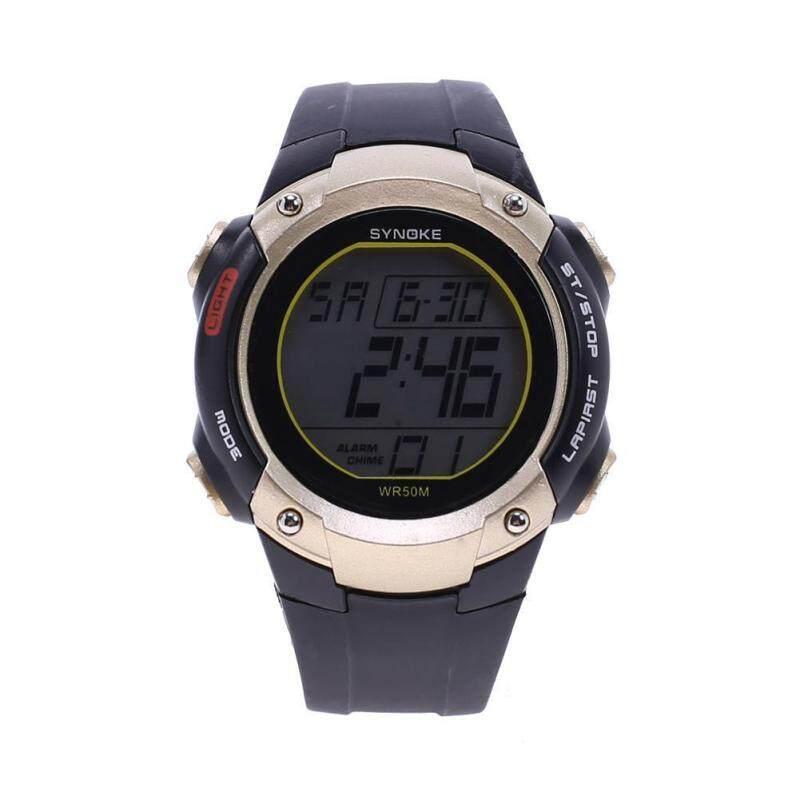 Men Digital Watches Sports Multifunction Students Luminous Watch(Gold) Malaysia
