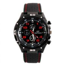 YBC Men Quartz Watch Racing Sports Grand Touring Military Wristwatch(Red) Malaysia