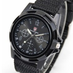 Men Military Quartz Movement sports watch black+1 Free box Malaysia