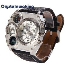 Men OULM Dual Time Display Quartz Wrist Watch with Thermometer and Compass Malaysia