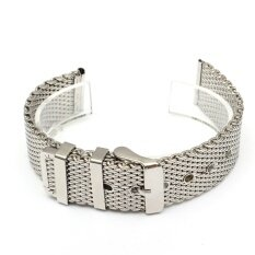 Men Silver Watch Strap Band Shark Mesh Stainless Steel Band Bracelet 18/20/22mm Malaysia