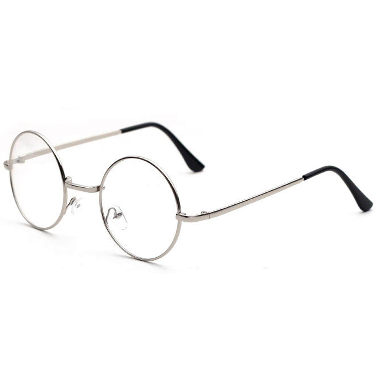 Hitam Bingkai Logam Bundar Eyewear Perak MINI Dixiu Pria Mode untuk Wanita  Klasik Bingkai Logam Retro 3aa0a7e053