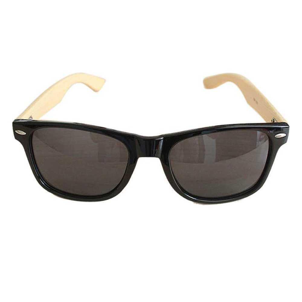 b0be7276a4bb Malonestore Men Women Glass Retro Vintage BK Wooden Sunglasses Wood Frame  Bamboo