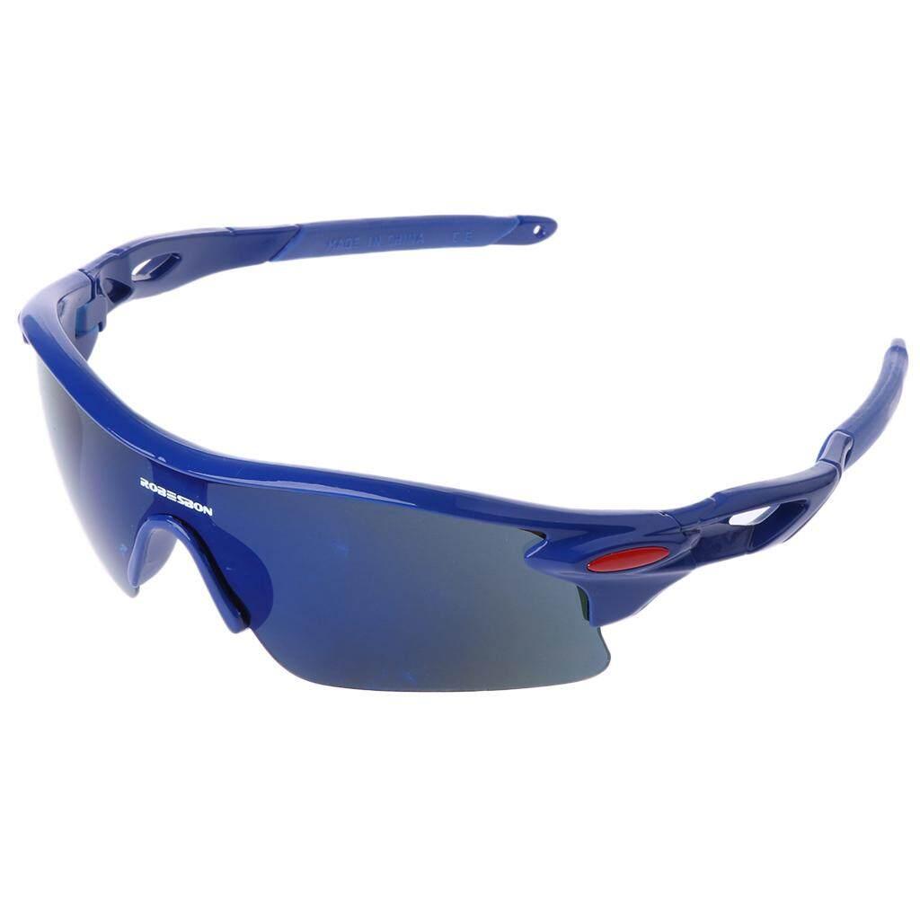 Panas Lengkap Pria Wanita Olahraga Kacamata Bersepeda Luar Ruangan Kacamata Bersepeda Kacamata UV400 Lensa-Intl