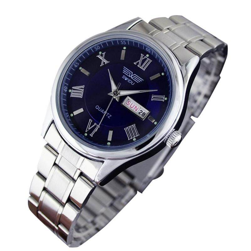 Mens  Hands Luminous dial Date Stainless Steel Bracelet Watch Malaysia