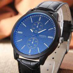 Mens Quartz Watches Men PU Leather Wristwatches Malaysia
