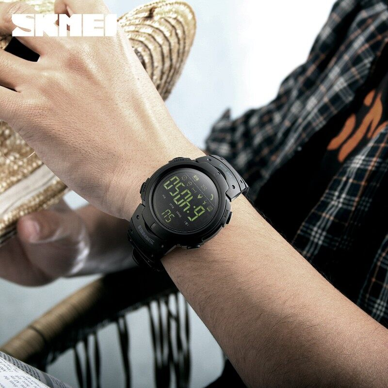 Pria Olahraga Pintar Jam Tangan Merek Modis Alat Pengukur Langkah Jarak Jauh Kamera Kalori Bluetooth Smartwatch Pengingat Digital Jam Tangan-Internasional