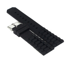 Free Shipping Mens Black Silicone Rubber Diver Watch Band Strap For Fossil Nate 20mm Malaysia