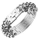 aeb7b41e737487 Mens Bracelets Stainless Steel Greece Key ID Bracelet for Men Double Cuba  Chain Fashion Jewelry Bold and Chunky | Lazada