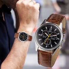Mens Chic Business Sport Synthetic Leather Quartz Wrist Watch Malaysia