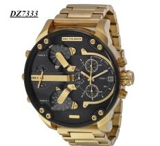 Mens Fashion Luxury Watch Stainless Steel Sport Analog Quartz Wristwatches Gold Malaysia
