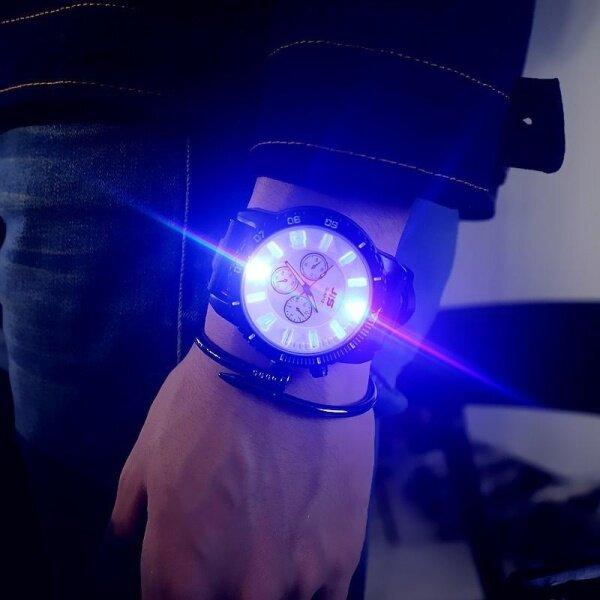 Mens Luminous Watches Quartz Hour Clock Korea Women Wristwatch(LED Backlight) Malaysia