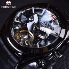 Manual winding Mens Watches Top Brand Luxury Automatic Watch Legend Tourbillion Series Full Black Leather Starp Malaysia