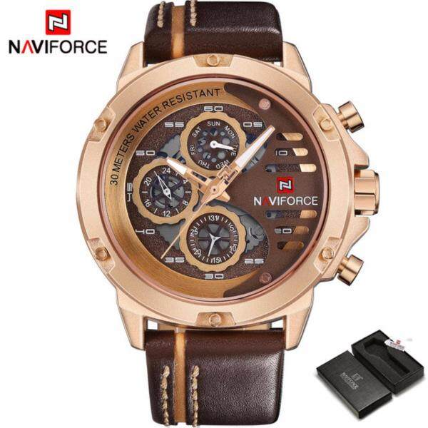 Mens Watches Top Brand Luxury Brand NAVIFORCE Casual Quartz Watch Men Leather Sport Wristwatch Man Waterproof Malaysia