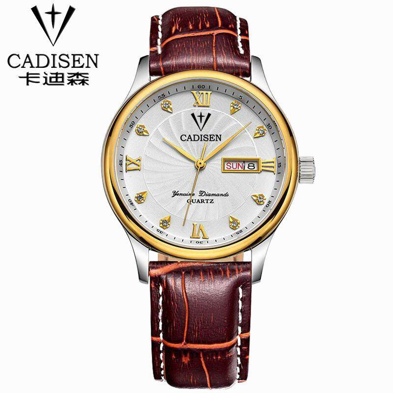 Mens watches Top Brand Luxury Mens Business Clock Male Leather stainless steel Wrist watch Quartz-watch relogio masculino Malaysia