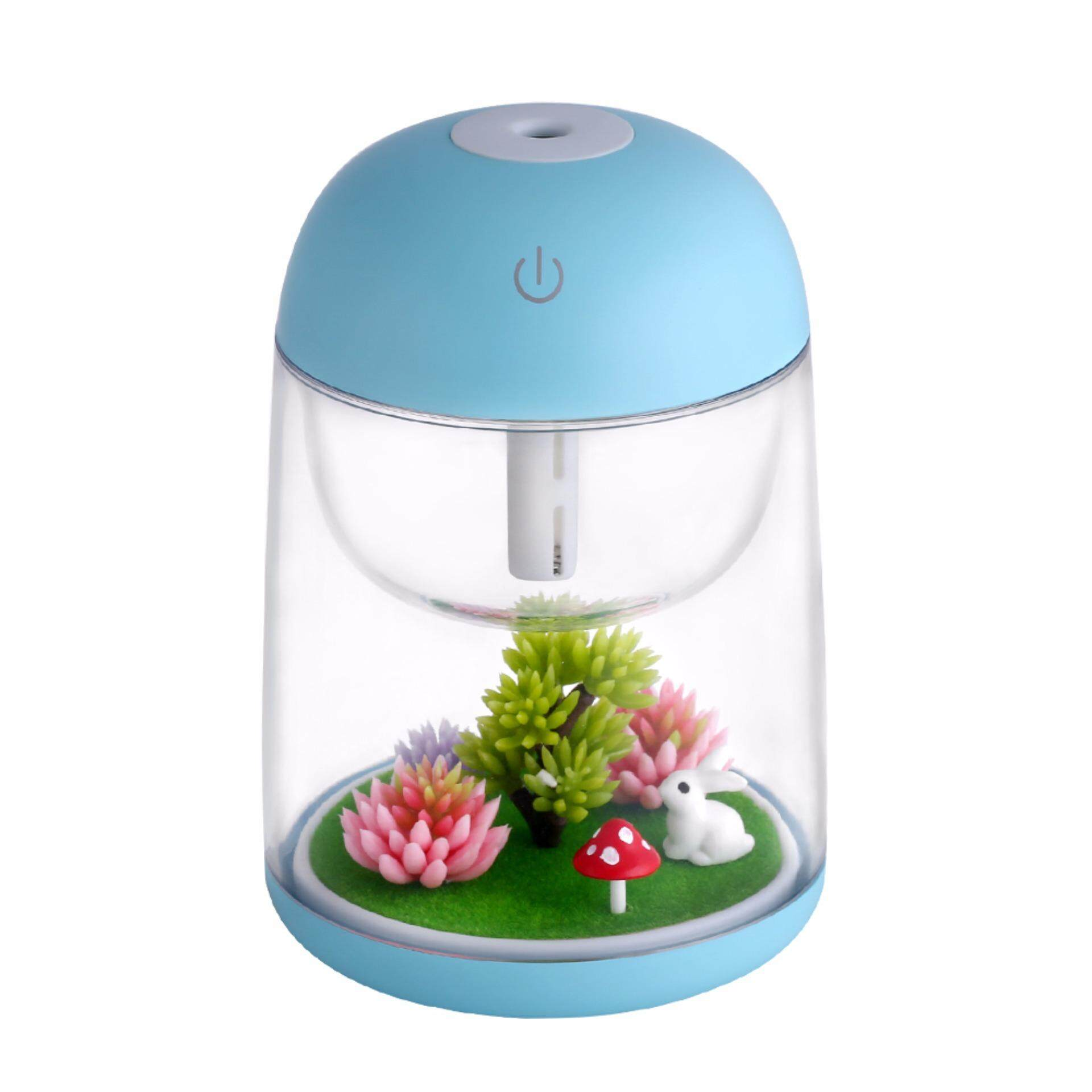 Micro Landscape Usb Humidifier Car Air Purifier Essential Oil Diffuser 180Ml Aroma Essential Oil With Led Light Multi Use For Travel Office Desk Desktop Car Small Baby Bedroom With Water Bottle Blue Intl Compare Prices