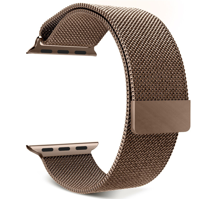 Milanese Magnetic Loop Stainless Steel Strap Watch Bands For Watch 38mm (Coffee) Malaysia