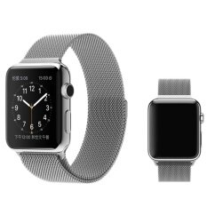 Milanese Magnetic Loop Stainless Watch Band Strap Leather Loop For Apple Watches Silver 38mm Malaysia