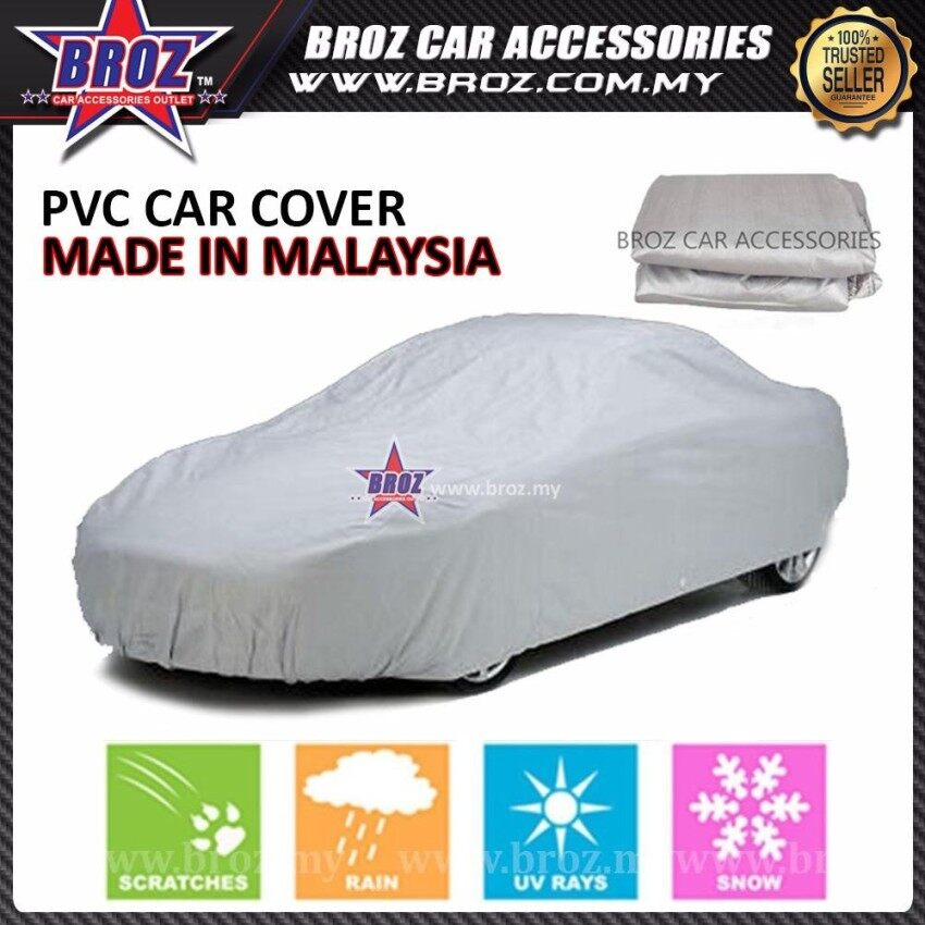 Mini Cooper S Made in Malaysia High Quality PVC Car Covers Sunproof Dust-proof Water Resistant Protective Anti UV Scratch Sedan Cover - L Size 470 x 180 x 119cm - intl