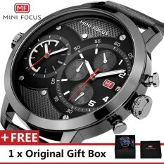 MINI FOCUS Top Luxury Brand Watch Famous Fashion Sports Cool Men Quartz Watches Calendar Waterproof Leather Wristwatch For Male MF0030G Malaysia