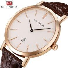 MINI FOCUS Top Luxury Brand Watch Famous Fashion Sports Cool Men Quartz Watches Calendar Waterproof Leather Wristwatch For Male MF0108G Malaysia