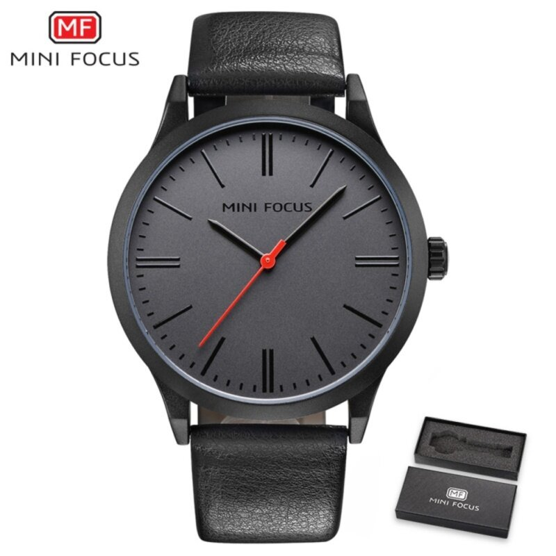 MINI FOCUS Top Luxury Brand Watch Famous Fashion Sports Cool Men Quartz Watches Waterproof Leather Wristwatch For Male MF0058G Malaysia