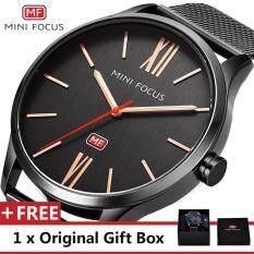 MINI FOCUS Top Luxury Brand Watch Famous Fashion Sports Cool Men Quartz Watches Waterproof Mesh Wristwatch For Male MF0018G Malaysia