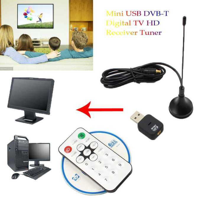 Mini Usb Dvb-T Digital Tv Receiver Hd Tongkat Pengatur Osd Mpeg-2/4 Untuk Laptop Pc Baru By The Wangda8 Shop.