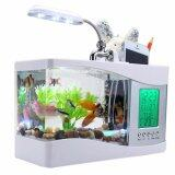Mini Usb Lcd Desktop Fish Tank Aquarium Clock Timer Calendar Color White On Line