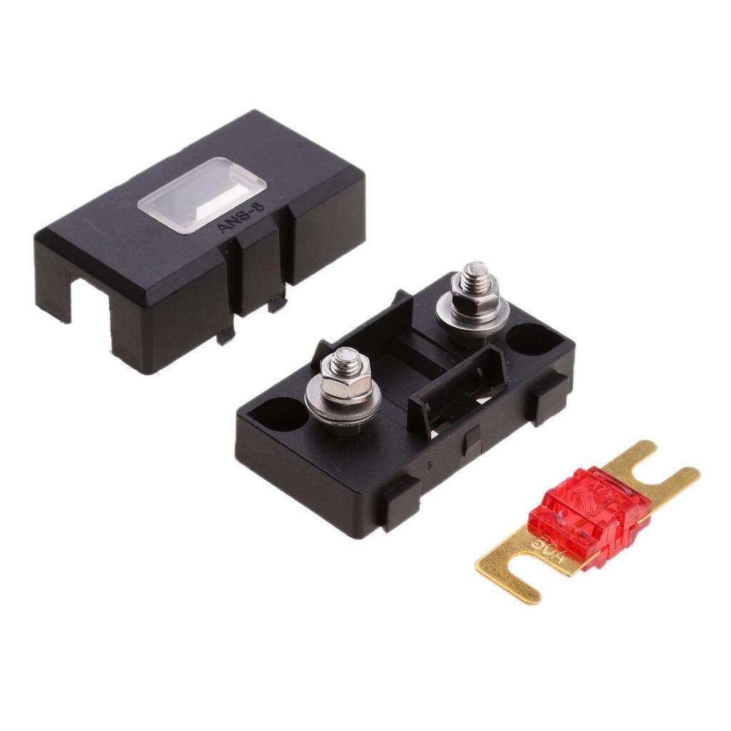 miracle shining inline ans fuse holder box block circuit breaker 32v 50a rv  car marine -