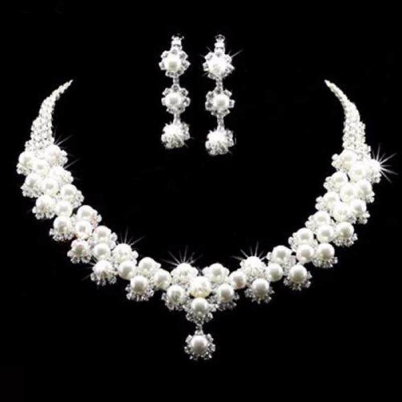 Missing U Womens Hollow Geometric Choker Collar Vintage Bohemia Rhinestone Necklace & Earrings Jewelry Sets for Party Holiday