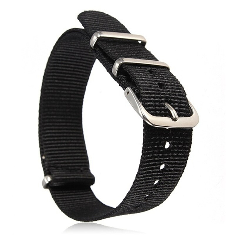 Moonar Army Style 20mm Military Nylon Wrist Watch Band Strap Stainless Steel Buckle (Black) Malaysia