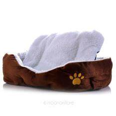 Moonar Autumn Winter Soft Warm Cozy Removable Lamb Cotton Pet Nest Bed House For Dog Puppy Cat Rabbit (coffee,size:l) By Moonarstore.