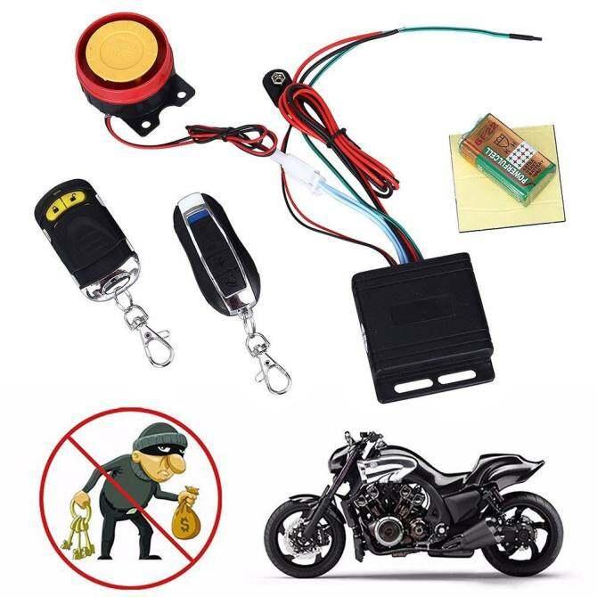 Alarm Sepeda Motor Speaker Anti-Keamanan Pencurian Sistem Mulai Jarak Jauh Kemasukan