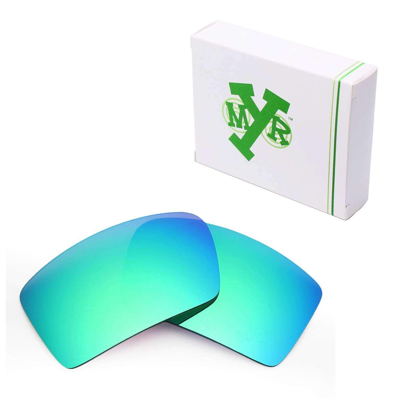 MRY Polarized Lensa Pengganti untuk Penutup Mata 2 Bingkai Kacamata Hitam Emerald Green-Intl