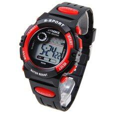 Multifunction Waterproof Kids Boys Girls Sports Electronic Digital Watch Watches Red Malaysia