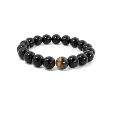 Natural Onyx Stone Agate Bead Wrist Bracelet Tiger Eyes Jewelry For Men And Women By Kuxn Store.