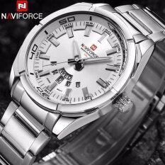 [CNY 2020] NAVIFORCE Brand Men Watches Luxury sport Quartz 30M waterproof watches mens stainless steel band auto date wristwatches Malaysia