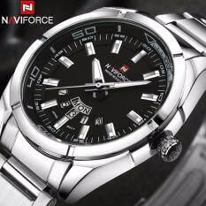 NAVIFORCE Brand Men Watches Luxury Sport Quartz 30M Waterproof Watches Mens Stainless Steel Band Auto Date Wristwatches Malaysia