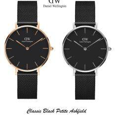 (Pre-order ETA 7 - 10days) New Arrival, Original Classic Petite Black Ashfield Rose Gold Plated 32mm with 2 years warranty Malaysia