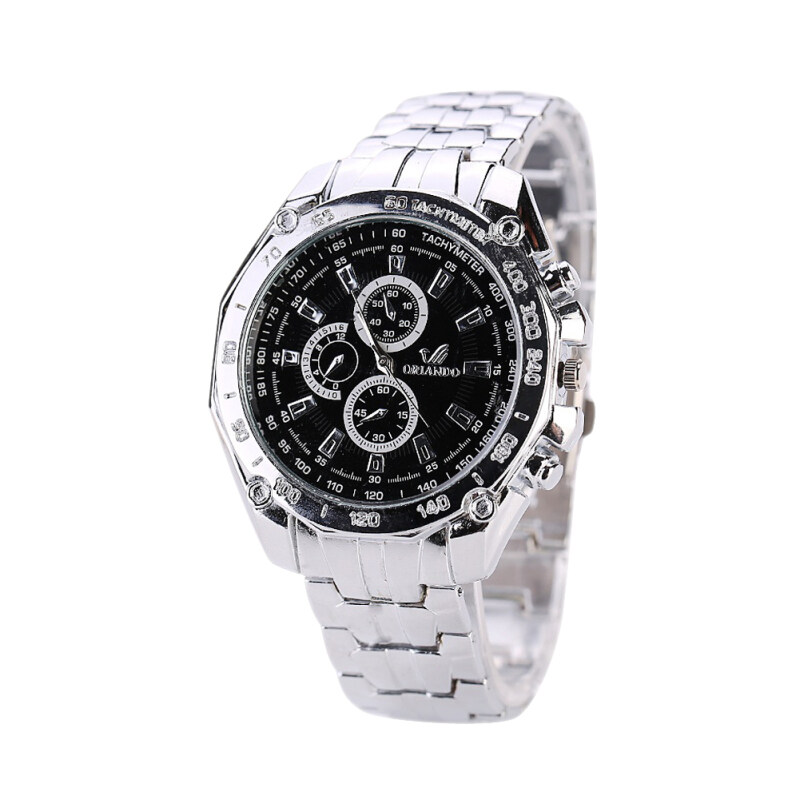 New Arrive Casual Luxury Wristwatch Men Electronics Quartz Watch (Black) Malaysia