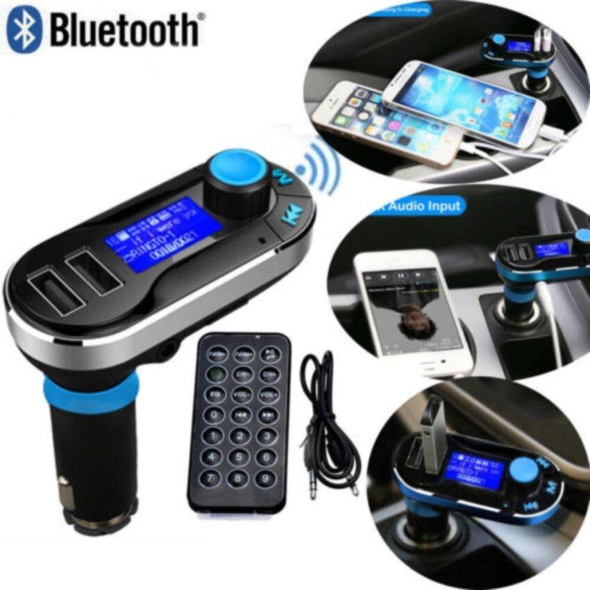 Baru Bluetooth MP3 Pemain Fm Pemancar Hands-Free Mobil Kit Charger Penopang Driver USB dan Micro Kartu SD-Intl