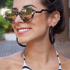 f58bcc272a90 New Fashion Half Frame Rimless Cat Eye Sunglasses Women Mirror Sun Glasses  For Female By Angel