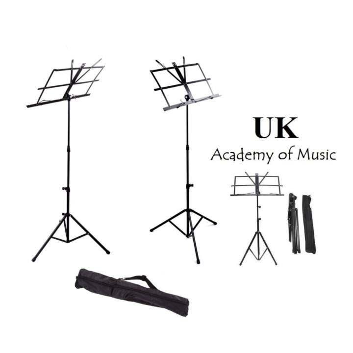 new foldable music stand for guitar ukulele violin with free bag lazada. Black Bedroom Furniture Sets. Home Design Ideas