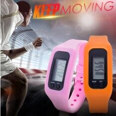 New hot fashion multi-functional sports bracelet, watch, electronic pedometer, calorie calculator and kilometer calculator(orange) Malaysia