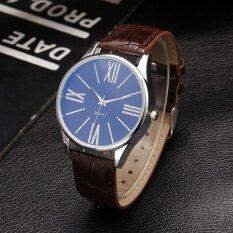 New Men Fashion Synthetic Leather Band Metal Analog Quartz Wrist Watch Malaysia