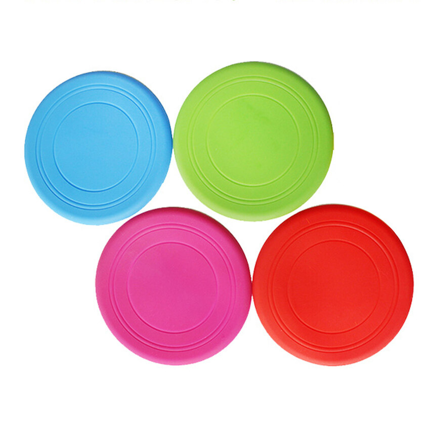 New One 4 Pcs Soft Silicone Flying Disc Frisbee Pet Dog OutdoorTrainingfetch Toy - intl