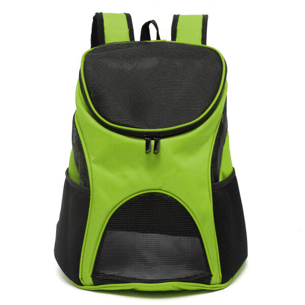 New Pet Dog Cat Puppy Double Shoulder Backpacks Sport Travel Outdoor Carrier Bag Green