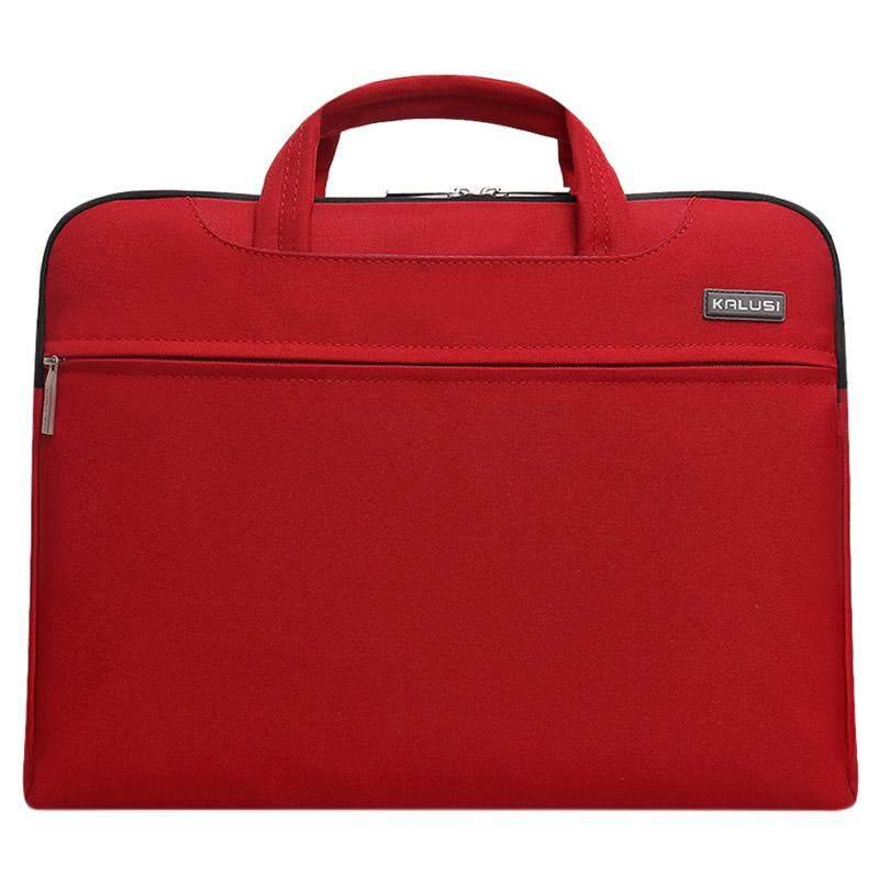 Baru Tahan Air Kedatangan Tas Laptop Tas Komputer Cover Laptop Tas 14 Inch untuk Apple Lenovo Dell Tas Komputer (Merah)-Intl
