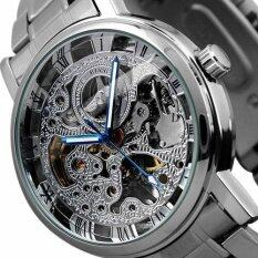 New Winner Hour Minute Analog Roman Skeleton Transparent Fashion Mens Auto Mechanical Watch Malaysia
